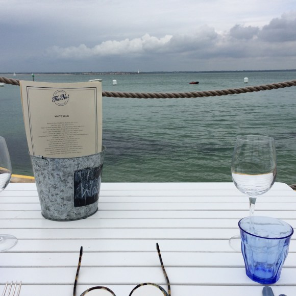 Lunch at The Hut, Colwell Bay, IOW