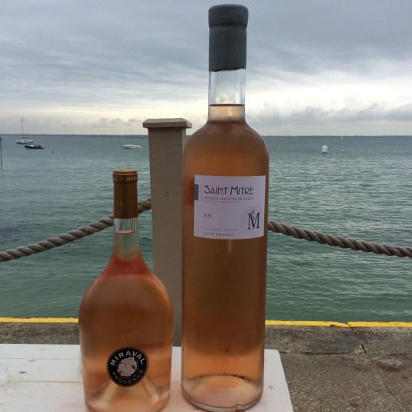 Enjoying provençal rosé at The Hut