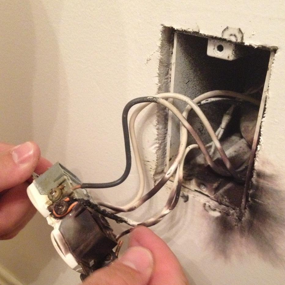 hight resolution of arcing an electrical shock or fire hazard lancaster win home bad wiring house fire