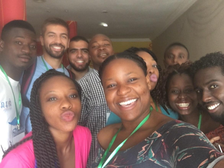 Another IFMSA trainer selfie (L-R back to front): Arsene, Rodrigo, Mohammed, Etuk, Chioma, John Kay, Motaz, Toyosi, ETP & Kemi