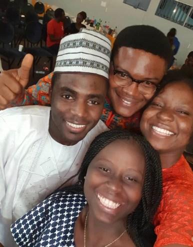 Team Nigeria Selfie: Dennis, Dr. Chara, ETP & Toyosi