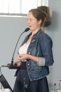 Ms. Barbara Hrabalova giving her keynote speech