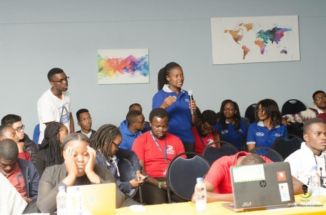 Interactive session during the final theme event - I promise I wasn't sleeping I was just stressed lol