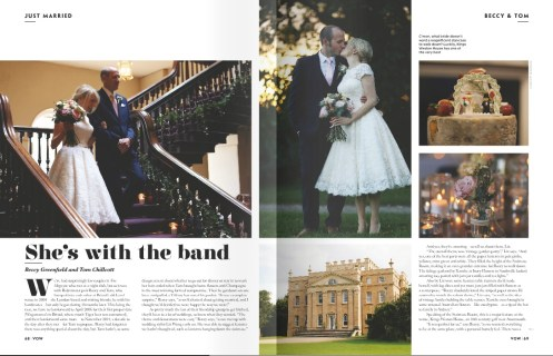 Beccy and Tom Vow- Elizabeth Weddings