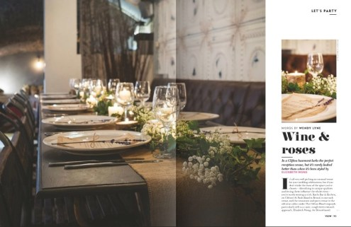 Racks styling Vow magazine- Elizabeth Weddings