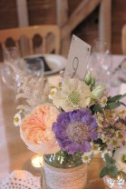 Flowers at the Over Barn- Elizabeth Weddings