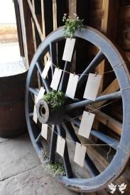 Cart wheel table plan- Elizabeth Weddings