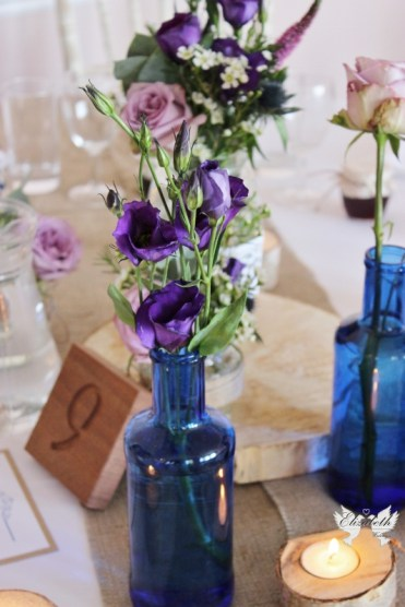 Rustic centrepiece- Elizabeth Weddings