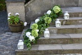 Flowers by Tin Can Floral and Lanterns by Elizabeth Weddings