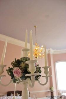 Candelabra centrepiece at Kings Weston House- Elizabeth Weddings