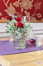Jam jars flowers at No4- Elizabeth Weddings
