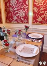 Place settings at No4- Elizabeth Weddings