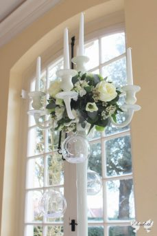 Candelabra centrepiece at Goldney Hall- Elizabeth Weddings