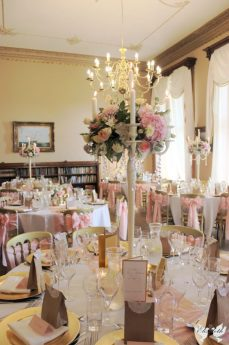 Pink and Gold styling at Orchardleigh- Elizabeth Weddings