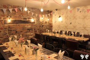 Racks, Bunting and Table Decor- Elizabeth Weddings