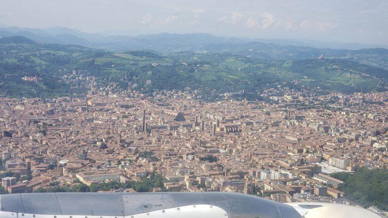 Vista aérea de Bolonha