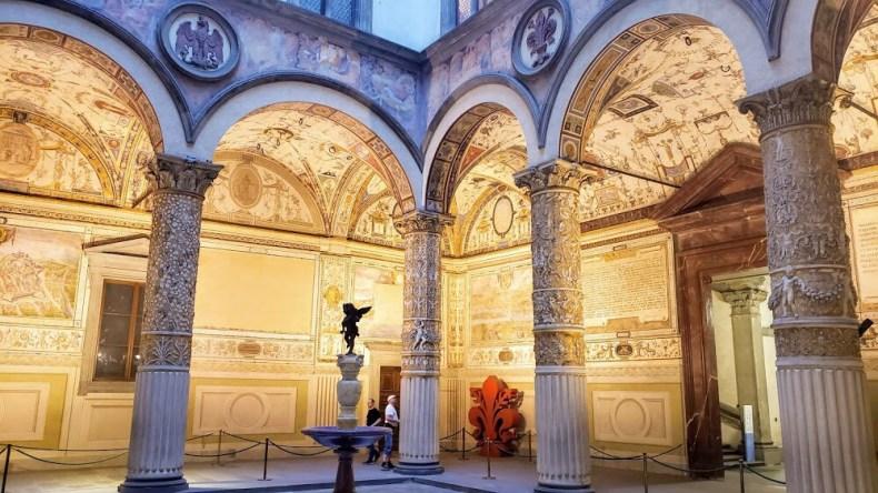 por dentro do Palazzo Vecchio
