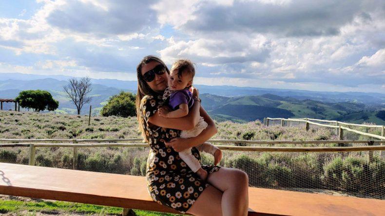 Eu e a Iara no Lavandario em Cunha- mas isso é assunto para outro post do blog