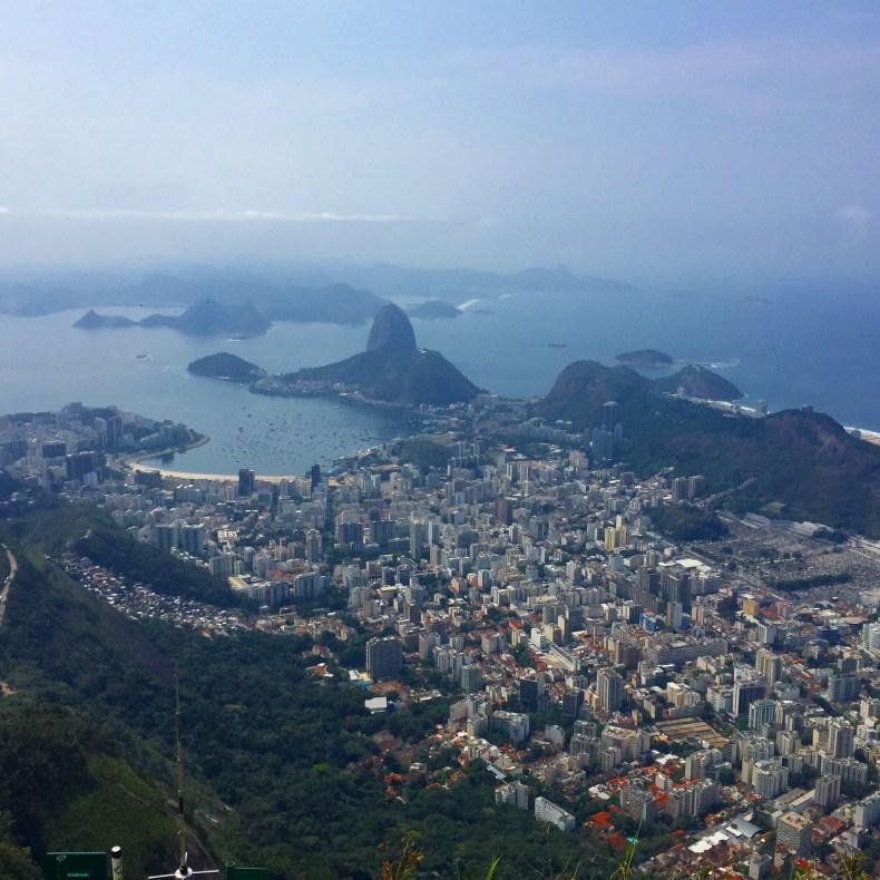 Pão de Açúcar visto do Cristo Redentor. Rio de Janeiro