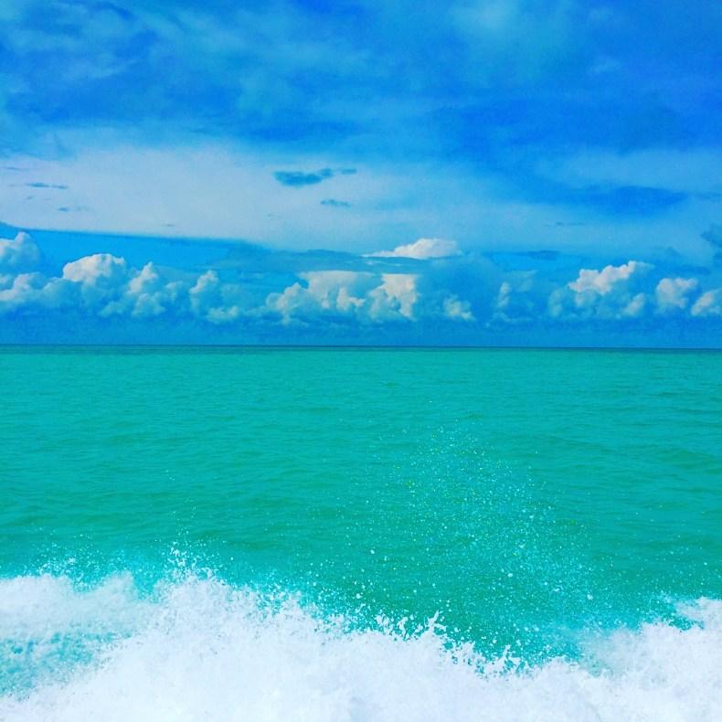 Rastro do nosso barco em Belize. Coisa linda! ❤️ Babymoon