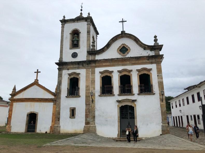 Igreja Santa Rita e Museu Arte Sacra, Paraty, Rio de Janeiro, Brasil.