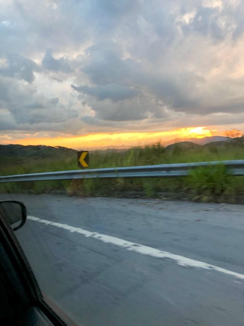 Na estrada, indo para Paraty