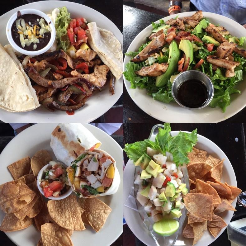 Logo em frente experimentamos a rica gastronomia da Costa Rica no Restaurante Lava Lounge.