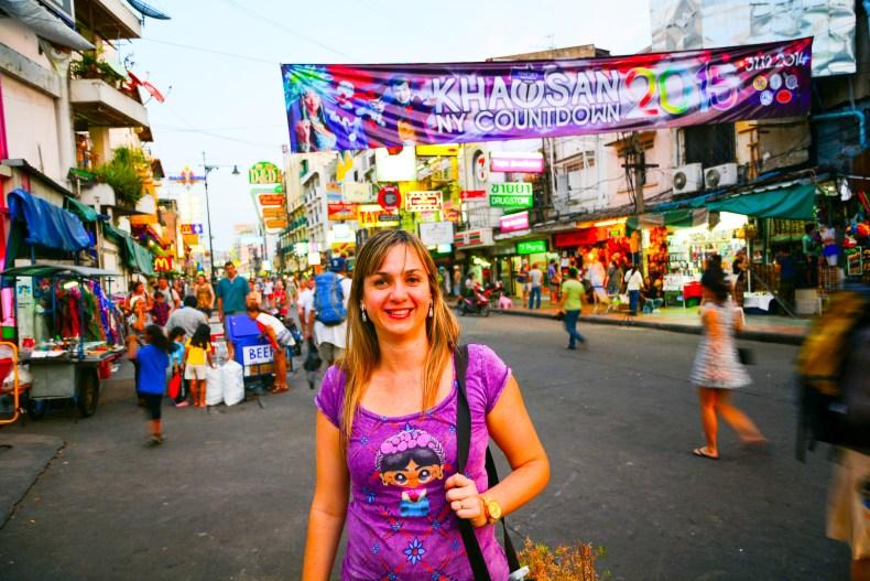 Khao San Road, Bangkok, Tailândia.
