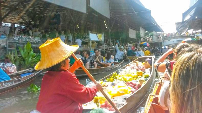 mercado flutuante! Bangkok