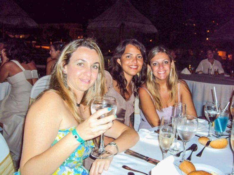 Jantar de casamento em Cancún