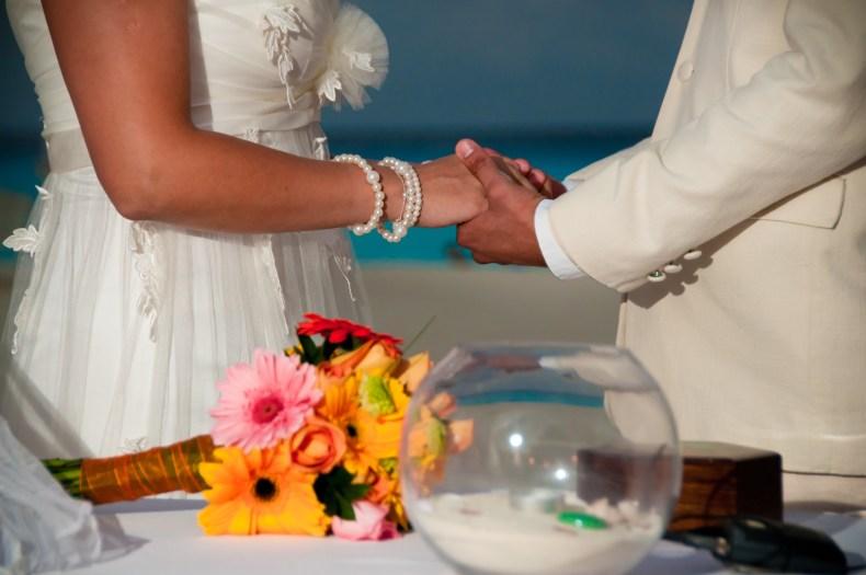 Noivos em Cancún na Riviera Maya