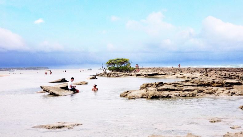 piscinas naturais formadas pelos recifes na Praia dos Carneiros