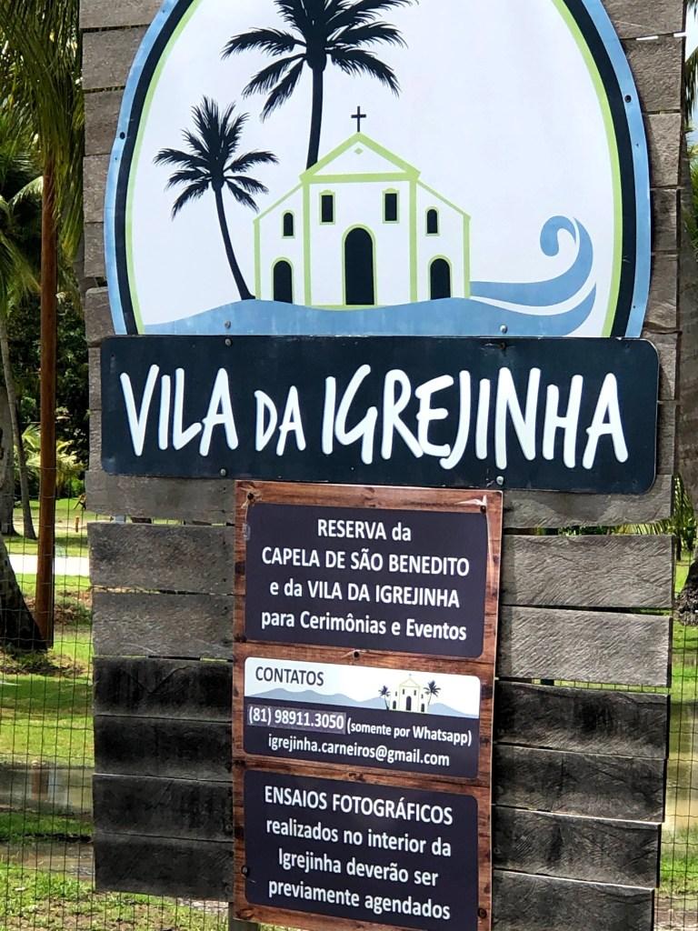 placa de informações para reserva de eventos da capela