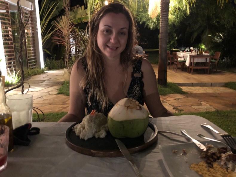 Jantar na Pousada do Toque, Alagoas. Rota Ecológica dos Milagres