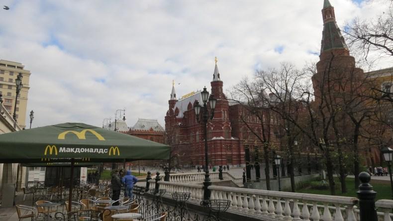 McDonald's na Russia, um país onde o real vale mais