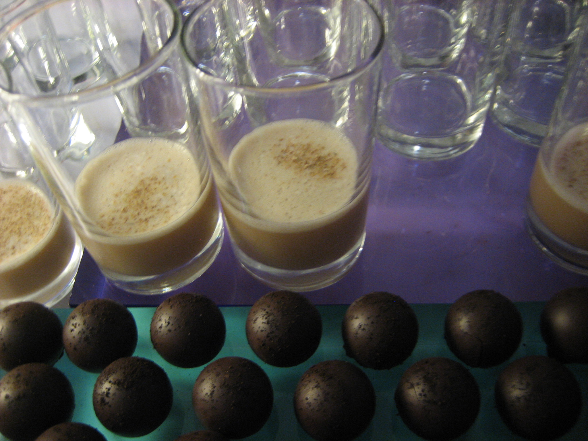 Vosges' Jazz Truffle was copacetic with Kinder's Coffee Cocktail