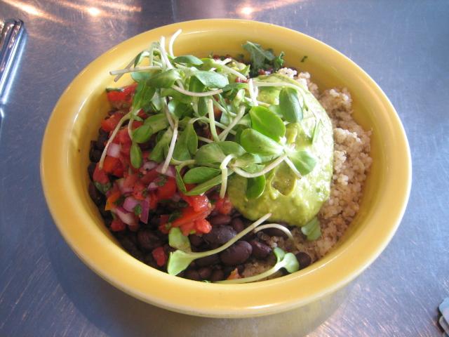 Quinoa and veggie rice bowl