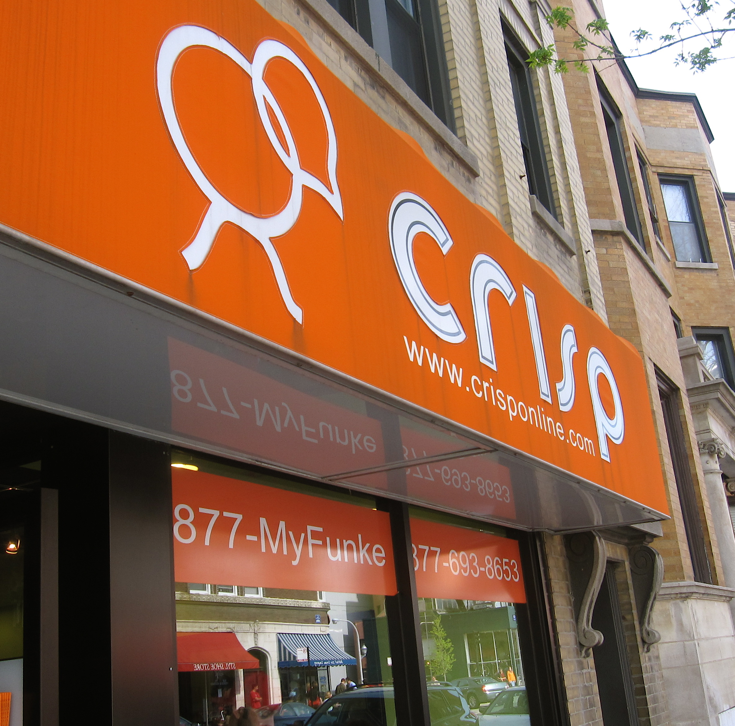 You can't miss the bright orange awning at Crisp, now we just need more of them