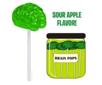 Best Halloween Treats - Brain Lollipop