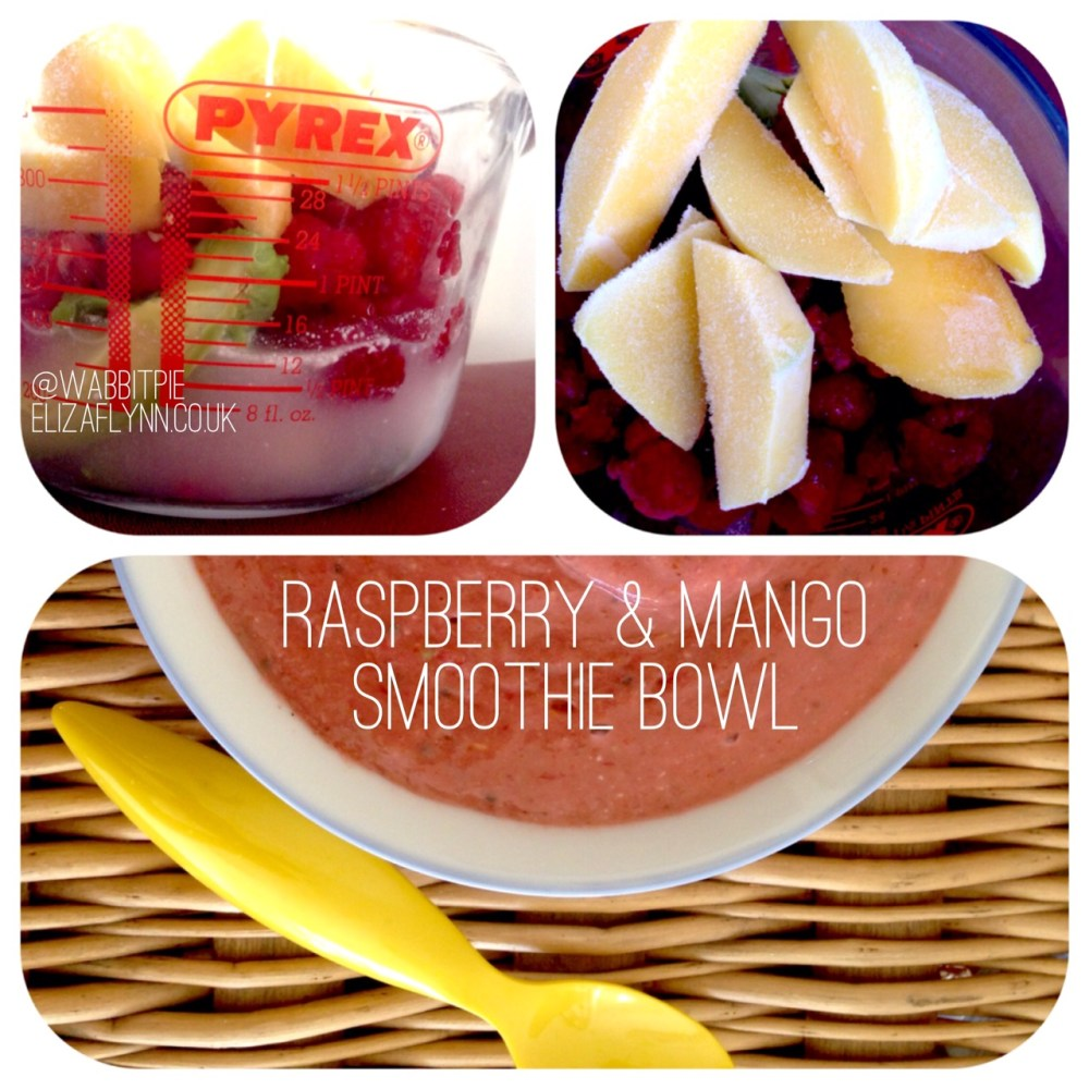 Tropical raspberry and mango smoothie bowl: A recipe