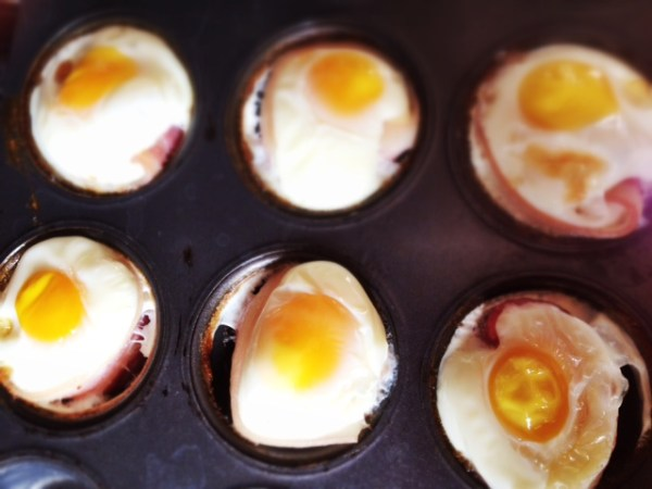Breakfast Eggs and bacon cups