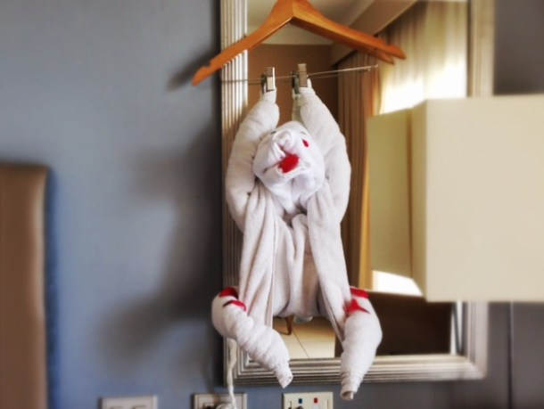 Jaz Aquamarine Towel Art - Monkey