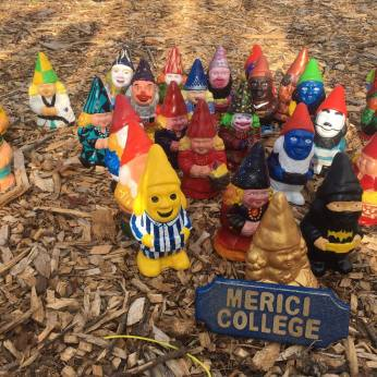 Bush, E., 2016. Gnomes at Floriade. [photograph] (Eliza Bush's own private collection)