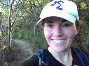 All smiles, about 20kms in