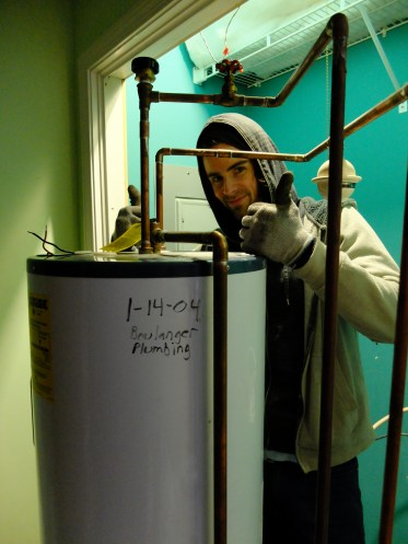 Fitz + Hot Water Heater... Our first project after Christmas vacation.