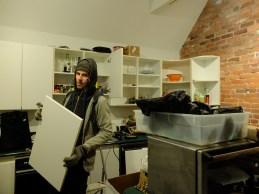 9pm Friday night. We BEGIN to demolish the kitchen.