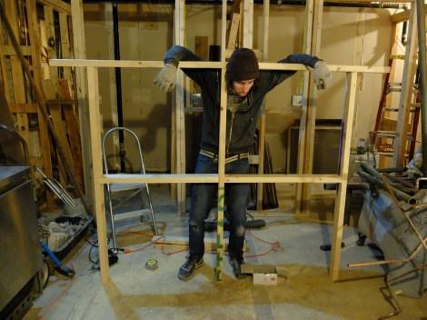 The stockade - aka the bathroom ceiling.
