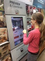 """The interactive paint chip """"game"""" at Home Depot!"""