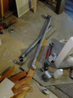 Assembling the grab bars.