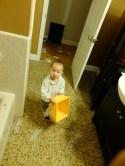 Even Baby Alekos gets put to work!